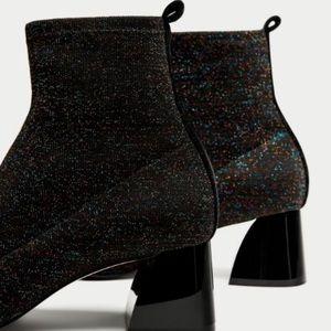 Zara Sock Style Booties - Multi Colored